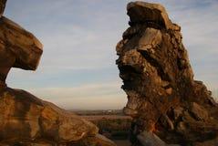 恶魔的墙壁(Teufelsmauer)在日落 库存照片