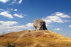 恶魔的岩石在Pidkamin,西部乌克兰 库存图片