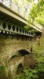 恶魔的桥梁在威尔士落 免版税库存照片