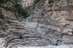 恶魔的楼梯在瓜达卢佩河山国立公园 库存图片