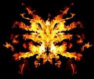 恶魔的火面具 库存图片