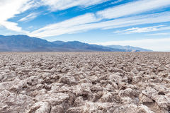 恶魔的高尔夫球场,死亡谷国家公园,美国 库存图片
