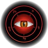 恶魔眼睛滤网向量 库存图片