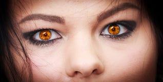 恶魔眼睛 免版税库存图片