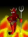 恶魔红色的一点 库存照片