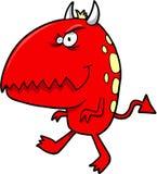 恶魔红色的一点 免版税库存图片