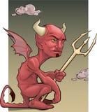 恶魔红色 库存照片