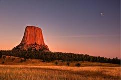 恶魔纪念碑国家塔美国怀俄明 库存图片
