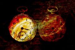 恶魔般抽象的时钟 库存图片