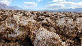 恶魔高尔夫球场在死亡谷国家公园 库存图片