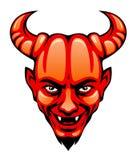 恶魔头 向量例证