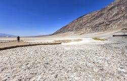 恶水盆地在死亡谷,美国 免版税图库摄影