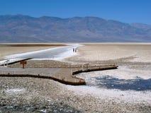 恶水盆地,死亡谷 免版税库存照片