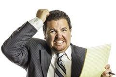 恼怒与工作2 免版税库存图片