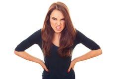 恼怒和愤怒妇女 库存图片