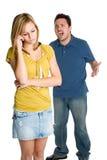恼怒夫妇叫喊 免版税图库摄影