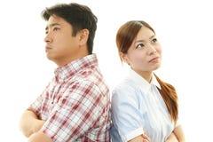 恼怒的丈夫和妻子 免版税库存图片