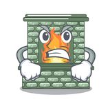 恼怒的与火焰的动画片石壁炉 向量例证