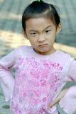 恼怒的儿童汉语 库存照片