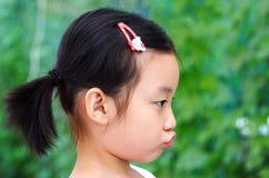 恼怒的儿童汉语 库存图片