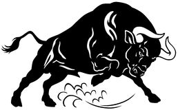 恼怒的公牛 库存图片