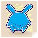 恼怒的动物兔子 免版税库存图片