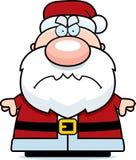 恼怒的动画片圣诞老人 图库摄影