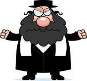 恼怒的动画片犹太教教士 库存图片