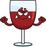 恼怒的动画片酒 向量例证