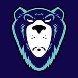 恼怒的北美灰熊商标设计 皇族释放例证