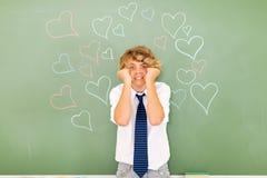 恼怒的十几岁的男孩 免版税库存图片