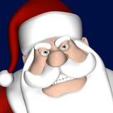 恼怒的圣诞老人 库存图片
