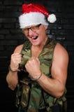恼怒的圣诞老人 免版税库存图片