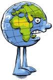 恼怒的地球 向量例证