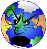 恼怒的地球 库存例证