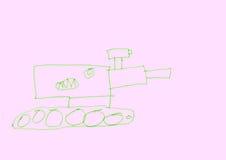 恼怒的坦克 免版税库存照片