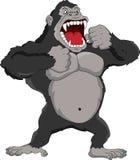 恼怒的大猩猩动画片 免版税库存图片