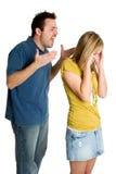恼怒的夫妇战斗 免版税库存照片
