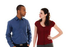 恼怒的夫妇 免版税库存照片