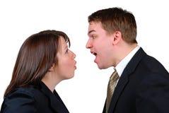 恼怒的夫妇 免版税图库摄影