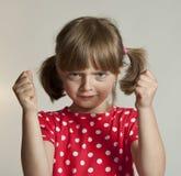 恼怒的女孩一点 免版税库存照片