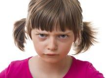 恼怒的女孩一点 库存图片