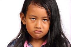 恼怒的女孩一点 库存照片