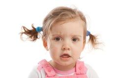 恼怒的女孩一点 免版税库存图片