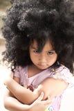 恼怒的女孩少许纵向 免版税图库摄影