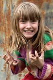 恼怒的女孩懒散的年轻人 库存照片