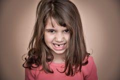 恼怒的女孩年轻人 免版税库存照片
