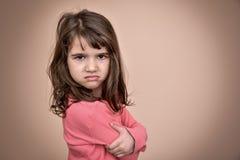 恼怒的女孩年轻人 库存图片