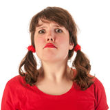 恼怒的女孩 免版税库存图片