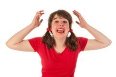 恼怒的女孩 免版税库存照片